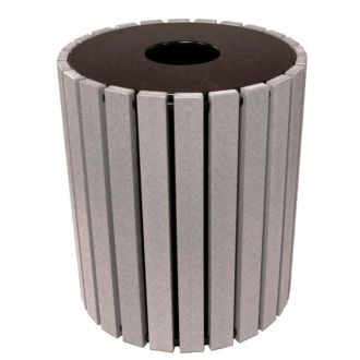 Recycled Plastic Trash Receptacle 49 gallon